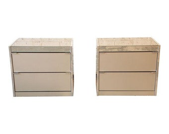 guy barker for ello midcentury mirrored nightstands a pair