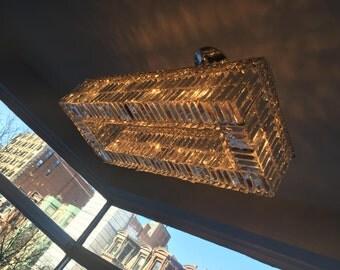 Rectangular Crystal Prisms chandelier