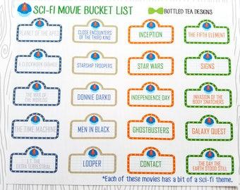 Sci-Fi Movie Bucket List (Set of 20) Item #493