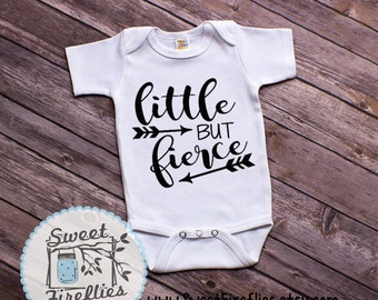 Little But Fierce, Infant One-Piece Bodysuit, Newborn Baby gift, Baby Shower Gift, Fierce Girl, Shakespeare Quotes, Newborn One-Piece, body