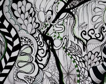 Doodle art print by Joanna Strange