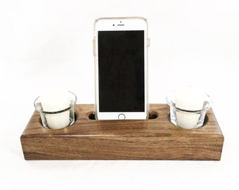 Docking Station, iPhone Dock, Tech Organizer, Anniversary Gift, Tech Gift, Gift for Him, Gift for Her, Nightstand Organizer, Tech Organizer