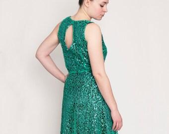 Mermaid gown emerald sequins