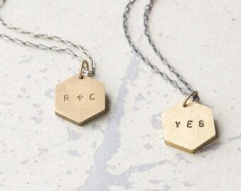 Benutzerdefinierte Initialen Halskette - Valentinstag, Jubiläum, Hochzeit, Beste Freunde, weggehen
