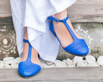 MOZAIC. Pointy toe flats / Womens shoes / leather shoes / ballet flats / flat leather shoes / bridal. Available in different leather colors.