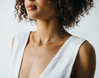 Ancha Necklace - Primitive Pendant, Taurus Symbol, Hand Cast Necklace