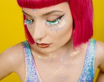 Sirène irisé paillettes cosmétiques Face Pack
