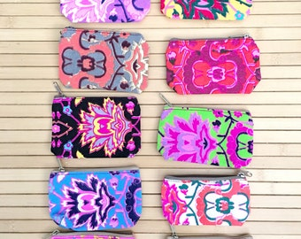 10 pcs Neon Zipper Pouches, Coin Purses,  Assorted Mix , Great for gifts , Party Favors, Bridesmaids gifts