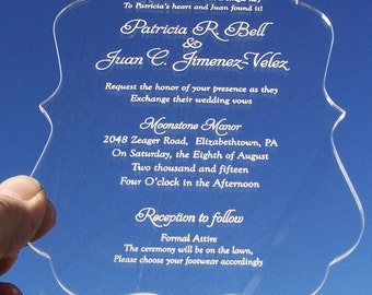 Clear Acrylic Invitations (Engraved)