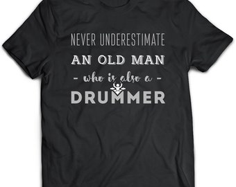 Drummer T-Shirt. Drummer tee present. Drummer tshirt gift idea. - Proudly Made in the USA!