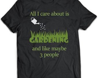 Gardening Gift, Gardening Clothing, Black Top, Gardening Art, Gardening Tshirt, Gardening Top, Bohemian Clothing, Green Top, Gift For Him