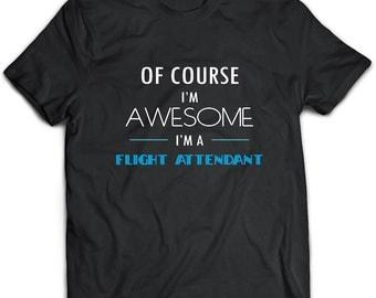 Flight attendant T-Shirt. Flight attendant tee present. Flight attendant tshirt gift idea. - Proudly Made in the USA!