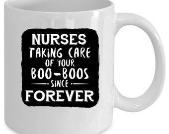 Nurse white coffee mug. Funny Nurse gift