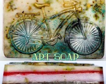BICYCLE SOAP,bike,cyclist,mountain bike ,vintage bike,beach cruiser,bicycle,bicycle art,biker,bike decor,bike soap kids bike beach bike