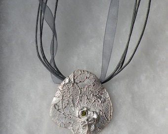 Dragonfly Pond- Fine Silver Pendant