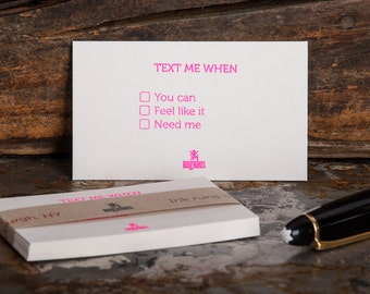 Text me when you can · feel like it · need me - Set of 15 conversation cards