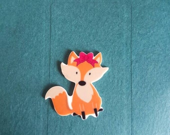 Cute Fox Needle minder / Strong Magnets/ Needle Nanny / Needle Minder / Chart Magnets / Needle Holder/ Neodymium / Rare Earth