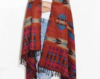 Long brown scarf, huge scarf, shawl warm, large scarf, wool scarf, blanket scarf, brown wrap, beautiful scarf, warm scarf, big scarf