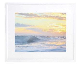 Ocean Art, Digital Download, Beach Decor, Sunset Photography, Wave Art, Printable, Orange County Sunset, Wall Art, Wall Decor