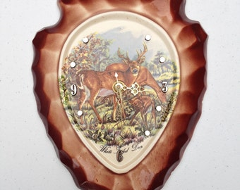 Arrowhead Deer Clock