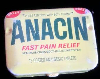 1980's Anacin purse tin, good condition