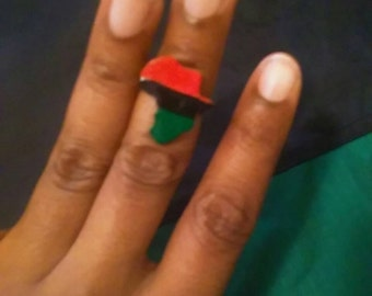 RBG red black and green Africa ring adjustable.