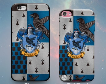 House Ravenclaw Crest and Flag Harry Potter Rubber Case for iPhone 7 Plus iPhone 7 iPhone 6s 6 Plus iPhone 5s 5 5c iPhone SE iPod Touch