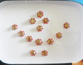 3 Pack - 39 Gold Red Nose stud,Golden round Bindi,Bridal Bindi,Indian bindi,tattoos,body decoration,face jewelry,Third eye bindi,belly dance