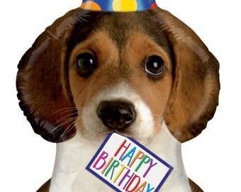 """Beagle Balloon,  Dog Balloon, Party Balloon, Party Decoration, Birthday Party, Animal Theme Party, Birthday, Animal Theme Fund Raiser, 41"""""""