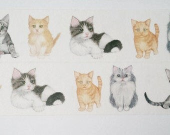 Design Washi tape cats animals