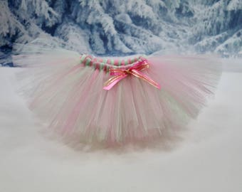 Pink and mint tutu. Full tutu. Cake smash tutu. Baby girl tutu. Smash the cake tutu. Birthday tutu. Fully customizable!!!!