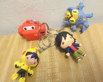 Disney Big Hero 6 3D Figures Keychain Pulls Lot Of 4
