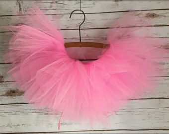 Tutu Skirt - Full Skirt Shown Here In Hot Pink! This Is A Tie Back Tutu For Baby Or Toddler