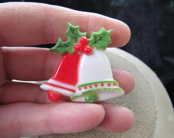 Vintage Christmas Bells Pin