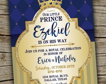 Prince First Birthday Invitations with good invitation example