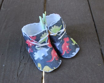 Handmade Dinosaur Baby Shoes