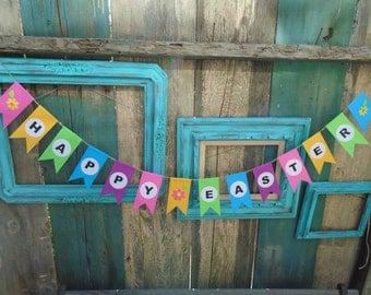 Happy Easter Banner Garland Bunting Handmade