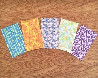 Sweet botanical origami paper gift envelopes, gift card holders, voucher holders, gift for her, kids, Christmas, Eid, birthday, baby shower