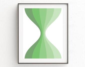 Mid Century Modern Wall Print, Mid Century Modern Print Art, Modern Geometric Wall Poster, Mid Century Wall Print, Green Abstract Wall Print