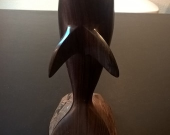 Vintage Ironwood Dolphin Statue  **FREE SHIPPING**