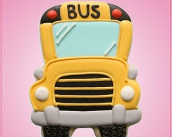 Forward Facing School Bus Cookie Cutter