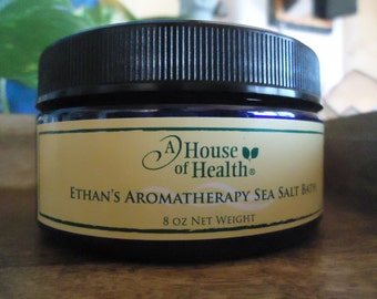 Bath Salts - Ethan's Aromatherapy Sea Salt Bath 8 oz., Salt Bath, Vegan