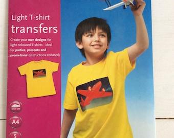 Tshirt Transfer Kit New WHSmith A4 Light T-Shirt Transfer For Inkjet Printers For 6+ Pack 5 Sheets