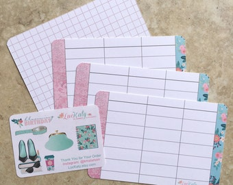 """BLOOMING BIRTHDAY: 12 Note and List cards (3.3"""" x 5"""") 