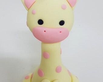 Fondant Baby Giraffe Cake Topper - 3D for Birthday, Christening or any Cake Decoration