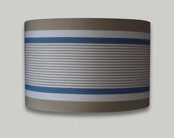 Beige Blue White Stripe Drum Lampshade Lightshade Lamp Shade 20cm 25cm 30cm 35cm 40cm 50cm 60cm 70cm