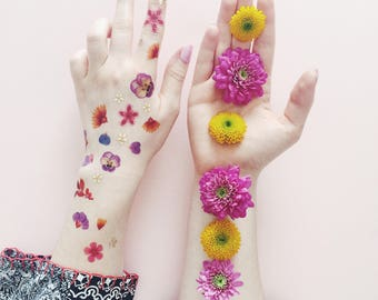 Petals Metallic Temporary Tattoo by PAPERSELF