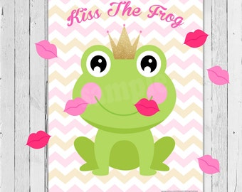 Kiss the Frog Party Game / Printable Game