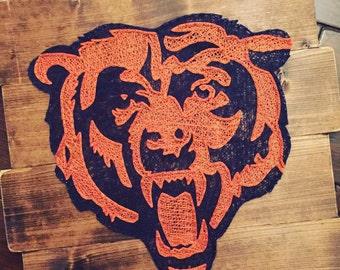 Chicago Bears Wall Art bear string art   etsy