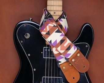 Purple Graphic Guitar Strap
